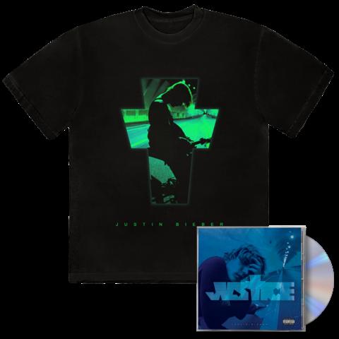 JUSTICE ALTERNATE COVER III + EXCLUSIVE BONUS TRACK III CD + T-SHIRT von Justin Bieber - CD + T-Shirt jetzt im Justin Bieber Shop